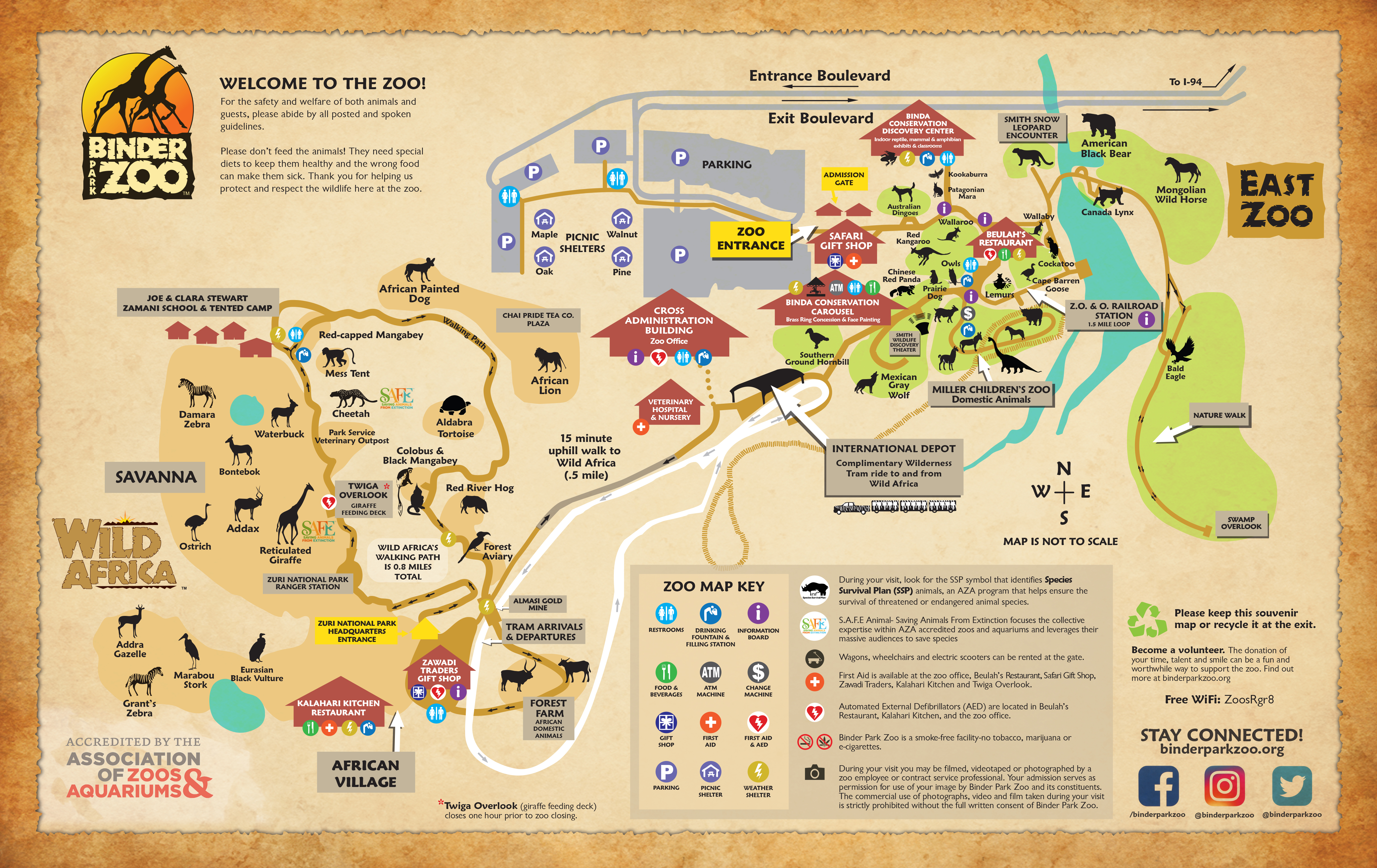 Zoo Map - Binder Park Zoo Zoo Map on